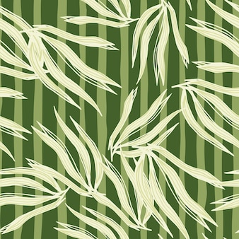 Modelo inconsútil de las algas verdes abstractas en el fondo de la raya.