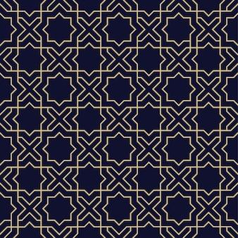 Modelo inconsútil árabe abstracto con estrella