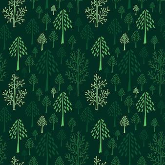 Modelo inconsútil de los árboles verdes
