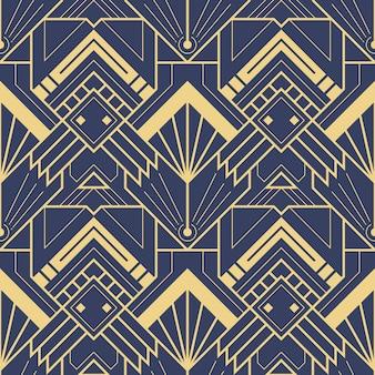 Modelo inconsútil del art déco azul abstracto