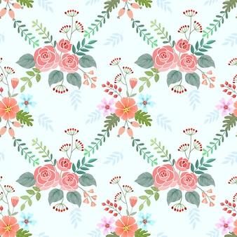 Modelo inconsútil del diseño colorido del vector de las flores del flor.