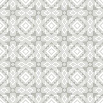 Modelo inconsútil elegante ornamental del azulejo gris y blanco, ejemplo del vector