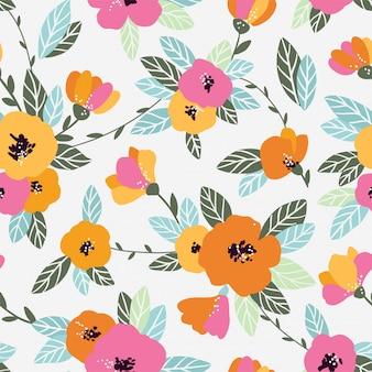 Modelo inconsútil de la flor de la vendimia. suave, fondo de primavera.