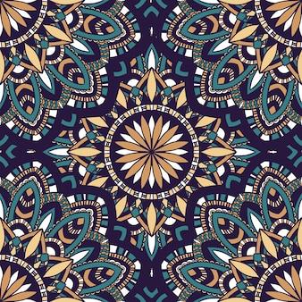 Modelo inconsútil de la naturaleza del vector con el ornamento abstracto.