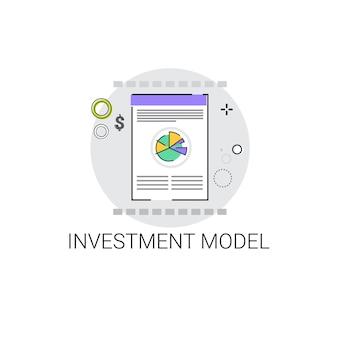 Modelo de proyecto de inversión business icon vector illustration