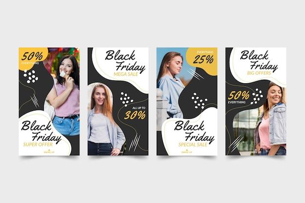 Modelos felices historias de instagram dibujadas a mano