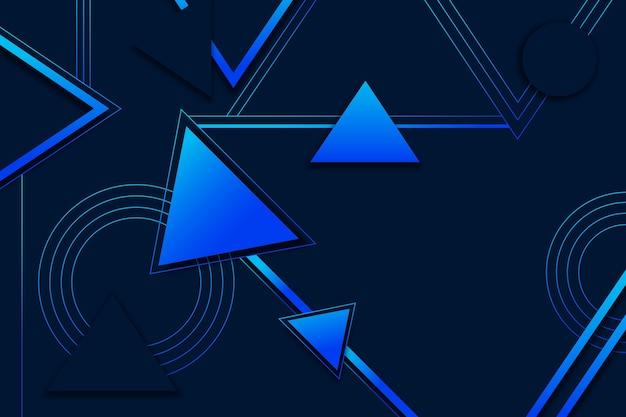 Modelos geométricos degradados sobre fondo oscuro
