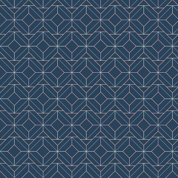 Los modelos inconsútiles geométricos blancos fijaron en un fondo azul