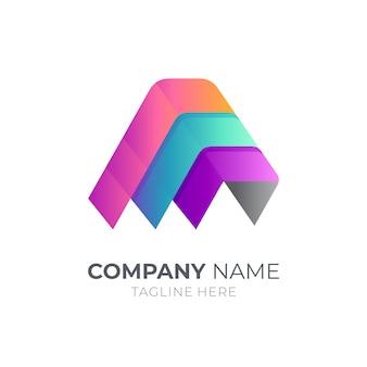 Modern initial letter a logo design