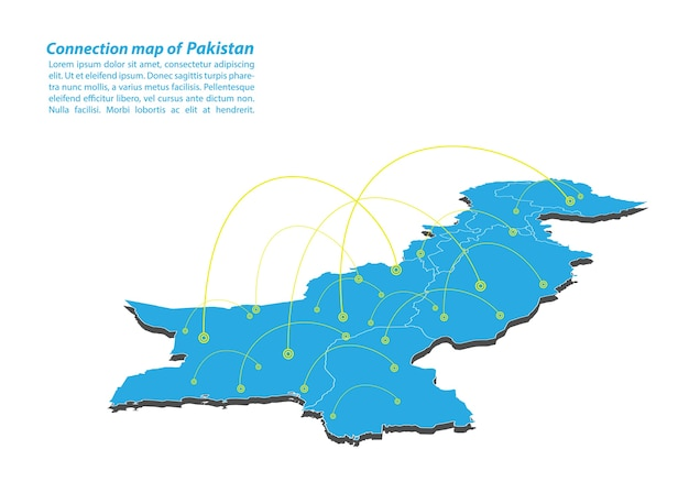 Modern of pakistan map connections network design
