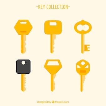 Moderna colección de llaves