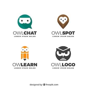 Moderna colección de logotipos de búho