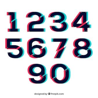 Moderna colección de números