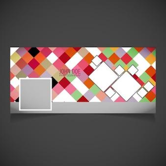 Moderna cover con píxeles a todo color