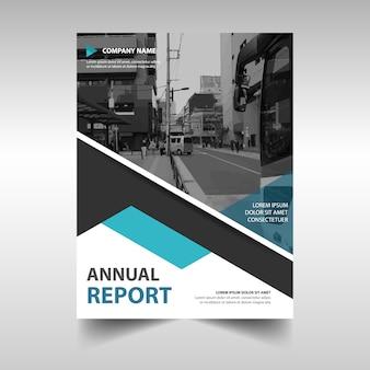 Moderna portada de reportaje anual de negocios