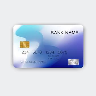 Moderna tarjeta de crédito azul