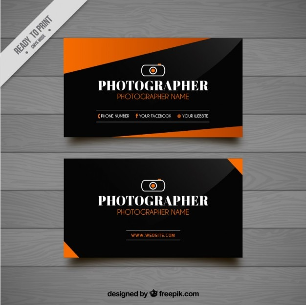 Moderna tarjeta de visita para fotografía con formas geométricas