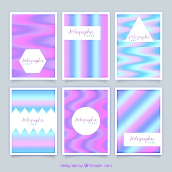 Modernas tarjetas holográficas