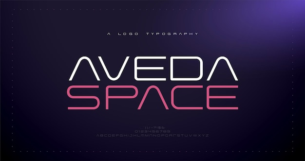 Moderno abstracto alfabeto fuentes tipografía deporte juego tecnología digital creativo logo fuente