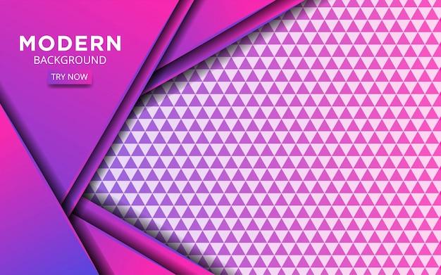 Moderno abstracto futuro púrpura con línea en textura de triángulo.