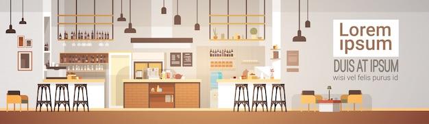 Moderno cafe interior vacio no personas restaurante