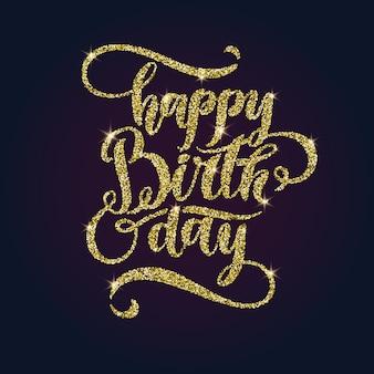 Moderno dibujado a mano letras feliz cumpleaños. inscripciones manuscritas para diseño y plantilla. ilustración