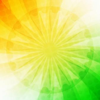 Moderno diseño de la bandera de la india
