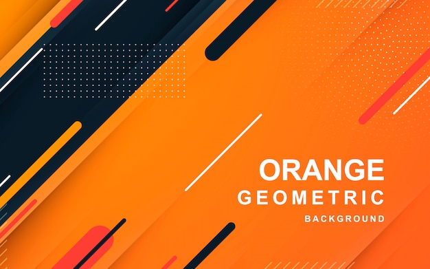 Moderno diseño geométrico naranja