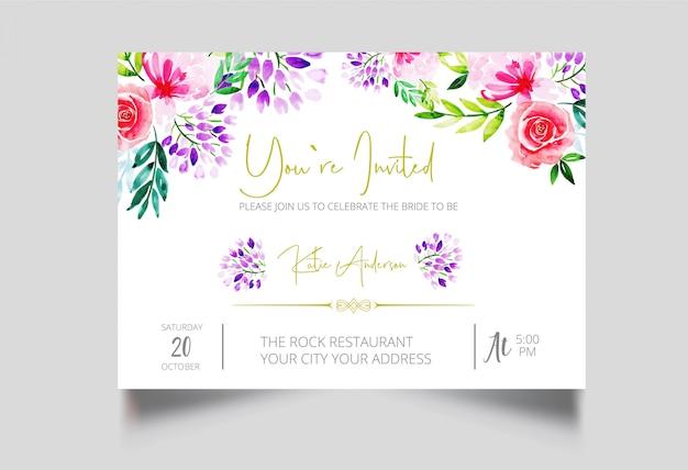 Moderno eres invitado diseño de tarjeta