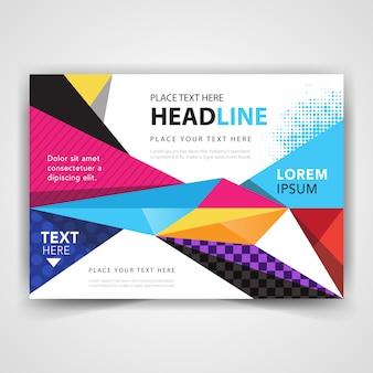 Moderno folleto abstracto colorido