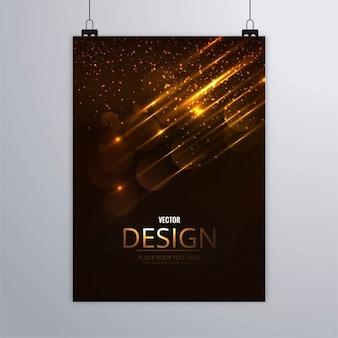 Moderno folleto brillante