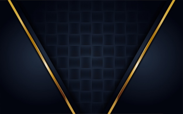 Moderno fondo azul oscuro con brillo, línea dorada