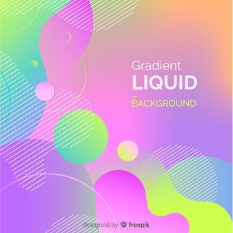 Moderno fondo con degradado líquido