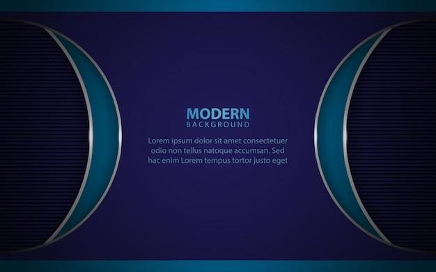 Moderno papel azul formas superpuestas de fondo