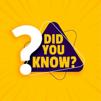 Moderno, ¿sabías banner amarillo con signo de interrogación?