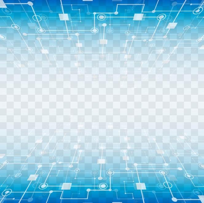 Modernos elementos tecnológicos con fondo transparente