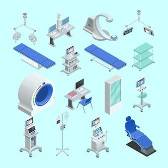 Modernos equipos de cirugía médica y salas de examen.