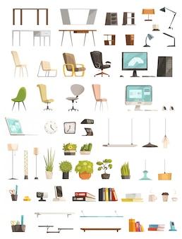Modernos muebles de oficina organizadores y accesorios.