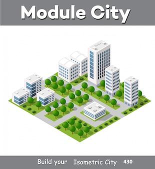 Módulo isométrico del centro de la ciudad.