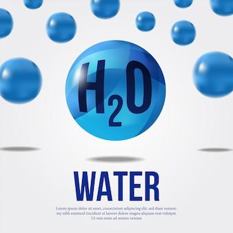 Molécula de agua para la ciencia.