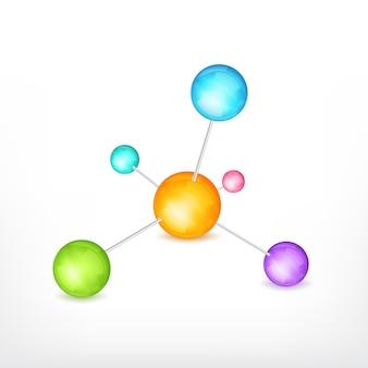 Molécula aislada en blanco