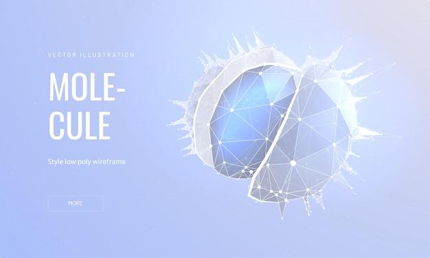 Molécula en estilo de estructura metálica poligonal