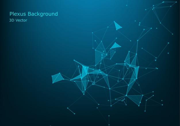 Molécula de fondo gráfico geométrico y comunicación.