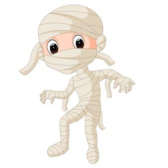 Momia egipcia de dibujos animados