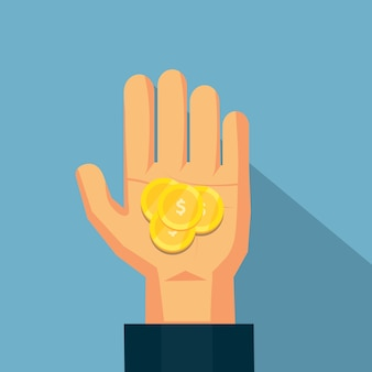 La moneda en la mano