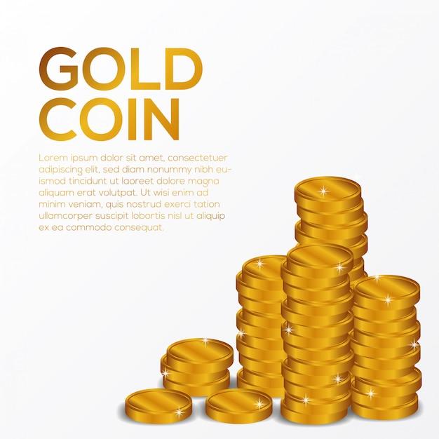Moneda de oro finanzas ilustración