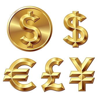 Moneda de oro con signo de dólar
