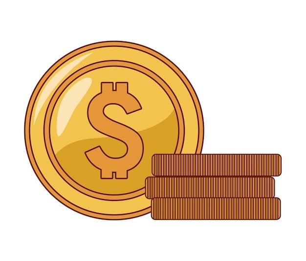 Monedas en efectivo dólares