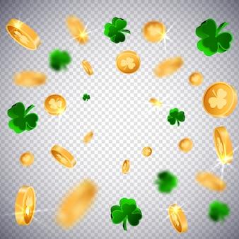 Monedas de oro 3d suerte