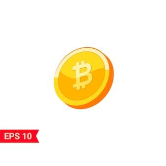Monedas de oro bitcoin 3d realistas